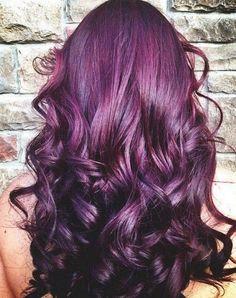 pretty hair purple and Burgandy in love