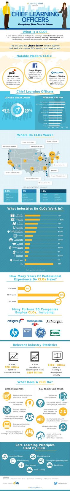 Chief Learning Officers Infographic - http://elearninginfographics.com/chief-learning-officers-infographic/