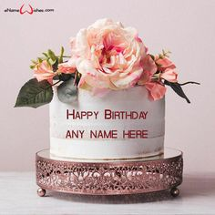 write name on pictures with eNameWishes by stylizing their names and captions by generating text on Happy Birthday Cake Pics with Name with ease.