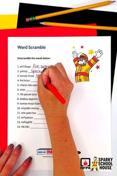 Perfect for Fire Prevention Week, this word scramble will teach kids the most important fire safety terms. It's easy to print and is available in English and Spanish. Fire Safety Tips, Fire Prevention Week, Best Apps, It's Easy, Teaching Kids, Spanish, English, Spanish Language, English Language