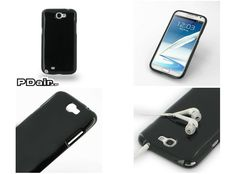 PDair High Gloss Soft Plastic Case for Samsung Galaxy Note II GT-N7100 (Black)