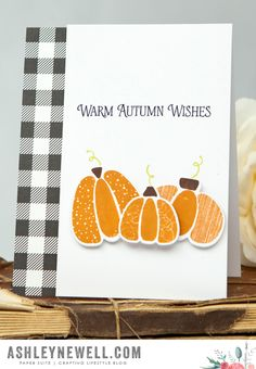 Warm Autumn Wishes Card by Ashley Cannon Newell for Papertrey Ink (August 2015)