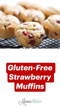 Healthy Low Carb Recipes, Dairy Free Recipes, Strawberry Recipes Dairy Free, Gluten Free Recipes For Breakfast, Gf Recipes, Muffin Recipes, Kitchen Recipes, Gluten Free Muffins, Gluten Free Baking