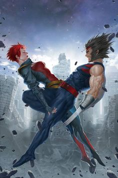Age of Apocalypse Jean Grey and Wolverine by Jung-Geun Yoon