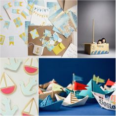 Cute cookies and love the idea of sticking kids in a box boat if you made this theme a birthday party