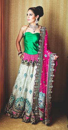 Rimi Gill featured in #SAPNA magazine's Best Dressed Bride series. Designer: Neeta Lulla