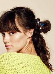 Sequin Scrunchie   Tie up your tresses with this stretchy shimmering sequin scrunchie.