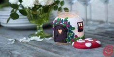 Mushroom House Jar Candle   The WHOot