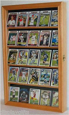 Baseball Card Display Case Shadow Box Cabinet With Glass Door, Cc01-oa