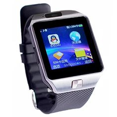 cool Inteligente Reloj Bluetooth Colofan C05 de lujo del reloj de tel?¡ì|fono con pantalla t?¡ì?šŠctil para IOS Android Smartphone Iphone Samsung Smartphone (plata)