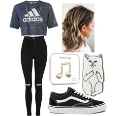 A fashion look from June 2017 featuring adidas tops, Topshop jeans and Vans sneakers. Browse and shop related looks.
