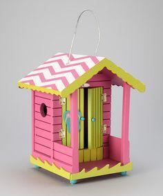 Pink Tropical Cabana Birdhouse