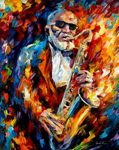 SONNY ROLLINS - INDIAN SUMMER — Artistic Signed Print on Cotton Canvas By Leonid Afremov