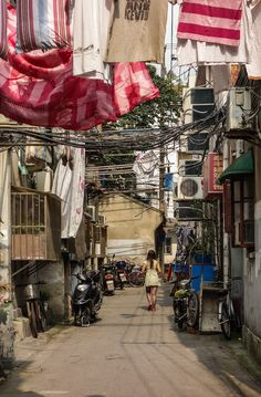 Voyage en Chine: un quartier traditionnel (Hutong) à Shanghai