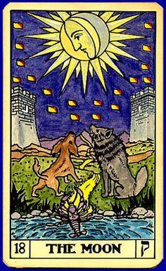 Tarot card: the Moon
