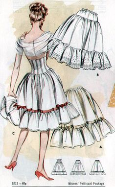 Butterick 9213 - look at the waist cincher and petticoat combo
