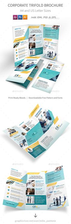 Yellow Corporate Trifold  Brochure Template Brochures And Template