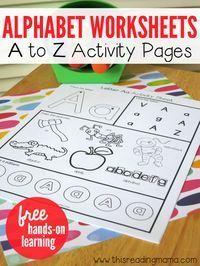 Alphabet Worksheets Activity Pages from A to Z is part of Alphabet preschool - These free alphabet worksheets are handson and engaging for young children Kids practice upper and lowercase letters, letter sounds, and making patterns Preschool Literacy, Preschool Letters, Learning Letters, Preschool Worksheets, Literacy Activities, Alphabet Letters, Teaching Letter Sounds, Preschool Calendar, Letter Fonts