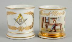 Porción # : 722 - Lot of 2: Shaving Mugs.