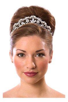 tiara wedding hairstyles long hair