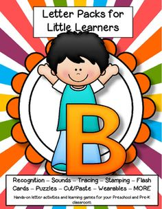 LETTER B Letters for Little Learners - 62 pg. - recognition, sound, tracing and craftivities. Low prep. Appropriate for pre-readers.
