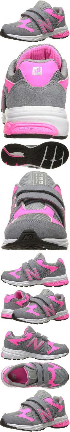 New Balance KV888V1 Pre Running Shoe (Little Kid), Grey/Pink, 13.5 M US Little Kid