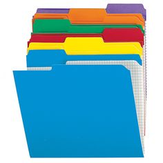 Office Depot® Brand Reinforced Tab Color File Folders With Interior Grid,  1/3