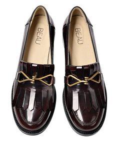Wine Gold Buckle Loafer - Women  zulily  zulilyfinds Loafers For Women 77d308f4d