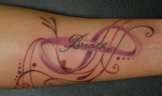 Breathe infinity tattoo - 45 Infinity Tattoo Ideas   Art and Design
