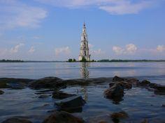 Church on Island - Pixdaus Church of the Trinity belfry, Kalyazin, Russia.
