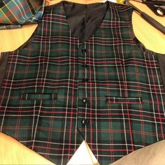 Custom made in Scotland from the finest wool tartan. This waistcoat will be made with...