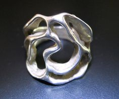 Modernist Sterling Silver Ring Organic Free by RenaissanceFair