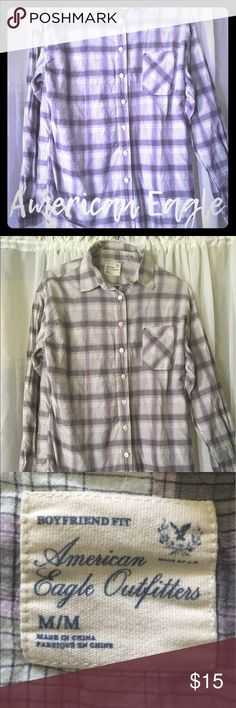 American Eagle Outfitters Boyfriend Fit Button up American Eagle Outfitters Checkered Boyfriend Fit Button up American Eagle Outfitters Tops Button Down Shirts