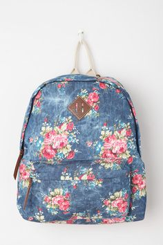 Steve Madden Floral Acid Patch Backpack #urbanoutfitters