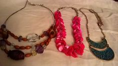 Costume mixed necklaces lot
