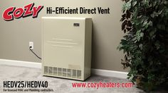 High-Efficient Direct Vent Heater: This video is for licensed HVAC and Plumbing contractors only. Cozy High-Efficient Direct Vent Furnaces are a perfect heating solution for single-family residential, rental, vacation homes, apartment and below grade heating applications.  Enjoy 80+% AFUE efficiency by selecting a High-Efficient Direct Vent Furnace from Cozy, the trusted name in zone heating.