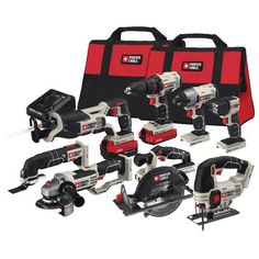 Porter-Cable 20V MAX Li-Ion 8-Tool Combo Kit PCCK619L8 New #PorterCable #Tools #ComboKit