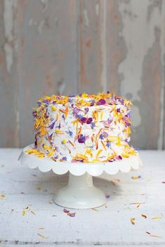 Flowerfetti Cake Recipe; Cooking With Flowers (BridesMagazine.co.uk)
