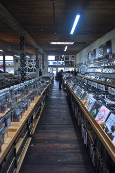 Everyday Music (Capitol Hill Seattle, WA) vinyl record store aisle. Awesome music store, if it was possible to live a music store, this would be it for me. :)