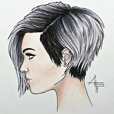 "Chloé Brown on Instagram: ""Throwback to when @annalaurapascon drew this ✏️❤️ Inspired by @andrewdoeshair 's cut & photo"" • Instagram"