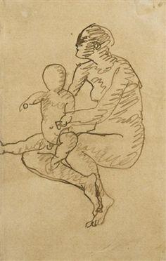 MÈRE ET ENFANT: MATERNITÉ By Pablo Picasso, details at Zaidan Gallery http://www.zaidan.ca/Art_Gallery/Picasso/Picasso_Auctions/Picasso_MÈRE_ET_ENFANT_MATERNITÉ.htm