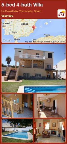 5-bed 4-bath Villa in La Rosaleda, Torrevieja, Spain ►€550,000 #PropertyForSaleInSpain