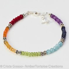 Chakra Dragonfly ANKLET Sterling Silver and Grade by ambertortoise, $118.00