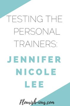 Jennifer Nicole Lee is a world renowned fitness professional and workout guru. I checked out her online workout program and these are the five things that she taught me.