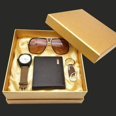 Fashion Men's Watch Gifts Set Sunglasses Leather Wallet Watch Set For Father Valentine's Day New Year Gift Quartz Wrist Watch Wedding Gifts For Groomsmen, Groomsman Gifts, Valentines Gifts For Boyfriend, Boyfriend Gifts, Gift Box For Men, Diy Holiday Gifts, Handmade Birthday Cards, New Year Gifts, Luxury Gifts