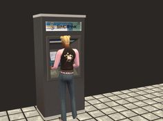 Monique's ATM re-meshed This is a simple mesh-shifting of Monique's ATM Machine (as she calls it, even though it becomes Automated Teller Machine Machine). Instead of her quite ugly re-texture of one. Cute Bunny Pictures, Sims 2 Hair, Automated Teller Machine, Bookmark Printing, Picture Source, Buy Business, Spring Theme, Sims 4, One Pic