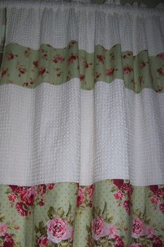 Shabby Chic curtains I made for my sewing room. <3