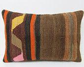 16x24 kelim kilim pillow brown throw pillow brown decorative pillow extra large pillow indie fabric hippie pillow case brown pillows 24271