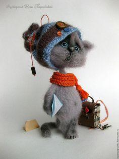 Купить Опять двойка? - серый, кот, серый кот, котейка, котенок, котенок из шерсти