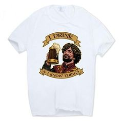 Game of Thrones Tyrion Lannister T-shirt, Short Sleeve O-Neck, Various styles wear your favorite Game Of Thrones Tyrion, Game Of Thrones Facts, Game Of Thrones Shirts, Game Of Thrones Quotes, Beer Shop, Got Memes, Drinking Shirts, Funny Design, T Shirts